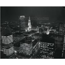 1987 Press Photo The 1987 Night Airviews Downtown Cleveland, Ohio - cva83221