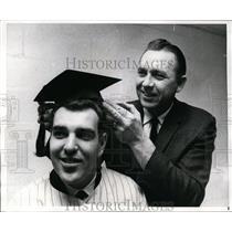 1968 Press Photo Ed Kranepool NY Mets 1st baseman & manager Gil Hodges
