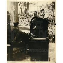 1922 Press Photo 180th Commencemant at Princeton Hon Vincent Massey of Canada