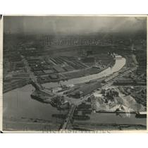 Press Photo The Airviews of Cuyahoga Riveer - cva83223