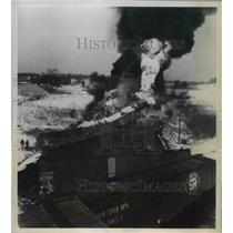 1948 Press Photo Three trainmen killed in two Freight train crashed in Michigan.