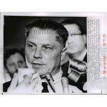 1964 Press Photo Miami Teamsters President Jimmy Hoffer holds news conference