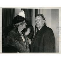 1940 Press Photo Idaho Senator William E. Borah & Wife