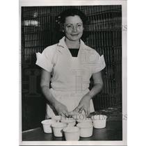 1936 Press Photo Marjorie Wood, West Coast Sweeptakes Winner. - nee82264