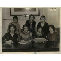 1927 Press Photo L-R M.McGrath,A.Dingle,Noonan,Haskins,Hynes,V.Redner & Delaney