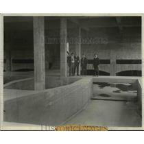 1925 Press Photo Chemical mixing chamber that the water goes thru at Reservoir