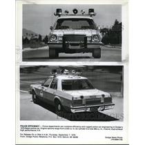 1980 Press Photo Police departments can combine efficiency and rugged police car