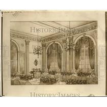 1918 Press Photo The Banquit Hall and Ballroom at the Stouffers Hotel
