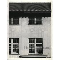 1934 Press Photo Prison, Warreneville. The workhouse window where men were