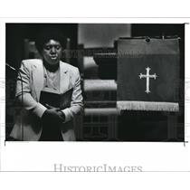1988 Press Photo Martha Fribley during the East Mount Zion Baptist prayer
