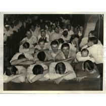 1934 Press Photo Prisoners at the County Jail - cva96823