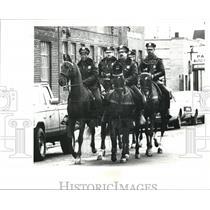 1990 Press Photo Mounted Cleveland police - cva79074