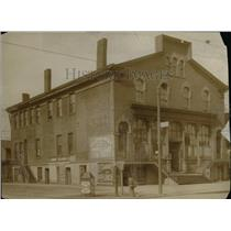 1913 Press Photo Saint Clair av at N.E. and E. third Street building - cva96845