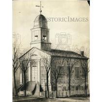 1921 Press Photo Old Stone Church in Cleveland original Edifice - cva87078
