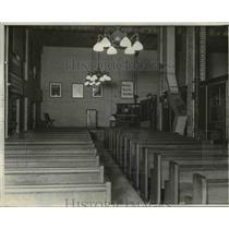 1931 Press Photo A time to repent at the Chapel at the Court jail building