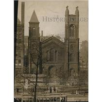 1912 Press Photo Old Stone Church in Cleveland during 1913. - cva87084