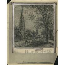 1921 Press Photo The First Baptist Church in Euclid Avenue - cva87092