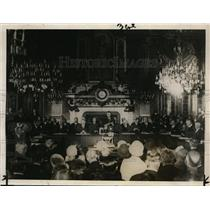 1928 Press Photo Clock Room of French Minister of Foreign Affairs