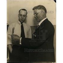 1925 Press Photo Russel Scott Reprieved Killer & Warden Wesley Westbrook