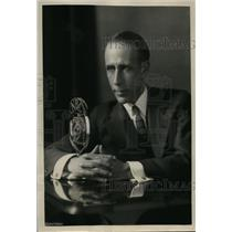 1930 Press Photo William Hard American Newspaper Correspondent & Broadcaster NBC