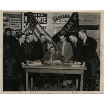 1941 Press Photo Oscar Kirstein J Aron A Dewar J Sullivan Fired by Ford Motor Co