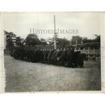 1927 Press Photo Mourning Party at Nijabashi Bridge at Entrance Chiyoda Palace