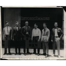 1924 Press Photo Six Italians Found Guilty 3 Times of Murder of Dallos Camos