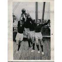 1937 Press Photo Mayo football team Leffey, Kenny, Ormsby, Patsy Flannelly