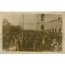 1919 Press Photo City of Triaste in Italy Celebrating Victory Over Austrians