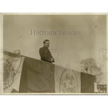 1918 Press Photo New York Times Manager George McAneny Speaks at Battery Park