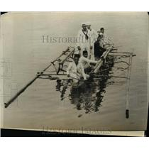 1929 Press Photo Herbert Ward Cecil McCormick and Moros in Dumanquilas Bay