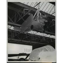 1959 Press Photo Tiny Wings Folded Against Fuselage This Turbulent Hang Roof