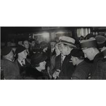 1938 Press Photo Colonel La Rocque Parliamentary Candidate M Charels Vallin