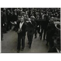 1931 Press Photo Communists & Unemployed Radical Converge on LA City Hall