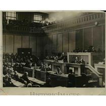 1932 Press Photo Italian Foreign Minister Dino Grandi at Disarmament Conference