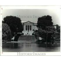 1921 Press Photo South facade of Cleveland Museum of Art and Fine Arts Garden