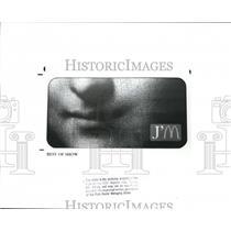 "1988 Press Photo J'M billboard with the smile of ""Madonna"" - cva86993"