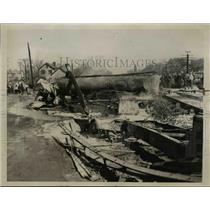 1938 Press Photo Clarene Lovell died when train struck truck at Woodbridge NJ
