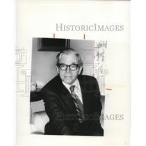 1977 Press Photo George Sitting in His Office - cva96029