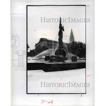 1977 Press Photo War Memorial Fountain - cva91577