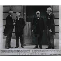 1919 Press Photo War leaders in Paris Lloyd George, Orlando, Clemenceau & Wilson