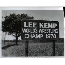 1979 Press Photo Lee Kemp World's Wrestling Champ 1978 - Ohio - cvb01534
