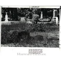 1988 Press Photo Cleveland Heights Cemetery - cva84229