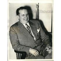 1936 Press Photo William W. Voisine, Mayor of Ecorse allegedly marked