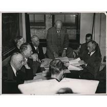 1948 Press Photo Cleveland Transit Board fare increase discussion - cva73455