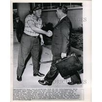 1962 Wire Photo Pres.James Hoffa Shakes Hands with an Unidentified Cab Driver