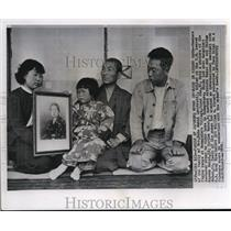 1957 Wire Photo The family of the Japanese woman , Naka Sakai - cvw06004