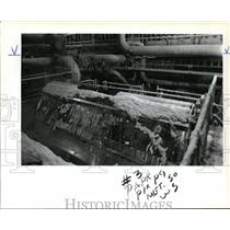 1983 Press Photo Thermo-mechanical pulping machinery of Publishers Paper Co.