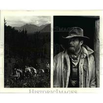 1986 Press Photo Riding the Range in Denali - cvb01275