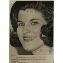 1966 Wire Photo Luci Baines Johnson suggested for use with Pms Budget Story